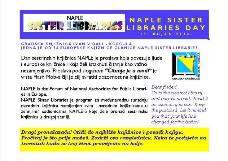 Naple sister lib day-druga strana razglednice